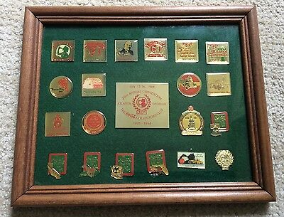 1994 Coca Cola Collector's Club 20th Annual Convention Atlanta Framed Pin Set
