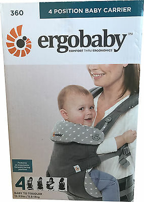 Ergobaby 360 Baby Carrier sling 4 ergo carry Positions: Dewy Grey