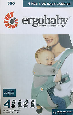 Ergobaby 360 Baby Carrier sling 4 ergo Positions: Cool Air Mesh - Icy Mint