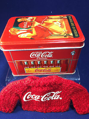 Madame Alexander  Coca-Cola Tin Box with knitted sweater cardigan  NEW MINT