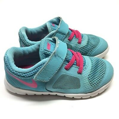 Nike Sneakers Sz 9 Toddler Girls Size 9c - Blue Pink sneakers Nikes running shoe