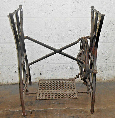 Vintage Foot Treadle White Sewing Machine Industrial Iron Base Table Legs