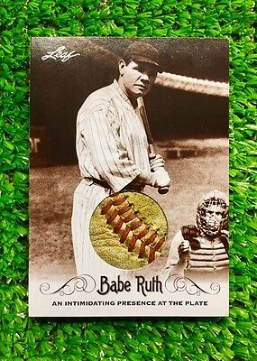 """Babe Ruth-New York Yankees Jersey (CUSTOM PATCH CARD) """"Real Baseball Stitching"""""""