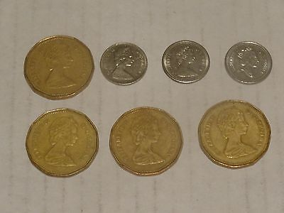 4 Canadian Dollars, 3 Canadian Dimes one of them 1968 dime is it silver?