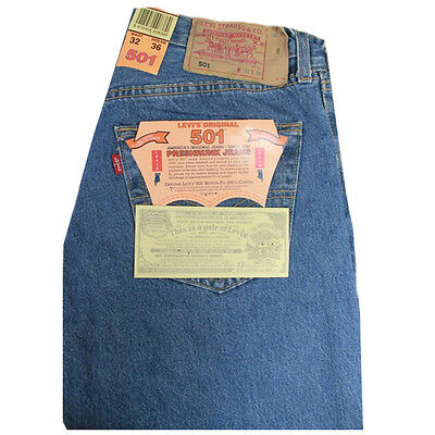 Levis 501 Herrenjeans 100% Baumwolle Farbe stone washed w32 l36