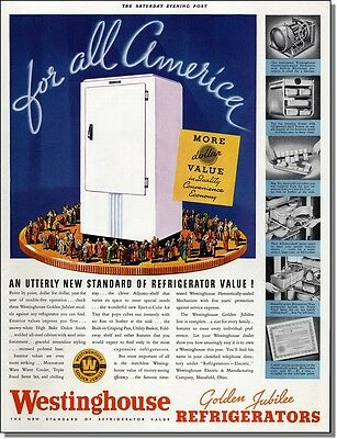 1936 Westinghouse Golden Jubilee Refrigerators for America print-ad