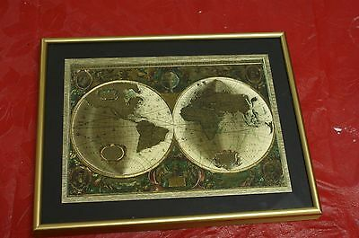 Nova Totivs Terrarvm Orbis Geographica Tabvla Gold Foiled World Map Henr Hondio