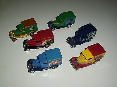 Matchbox Model A Ford Lot Of 6 Models Of Yesteryear 1979