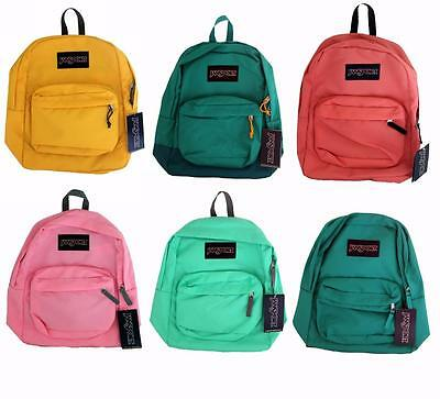New JanSport Black Label Superbreak Backpack 100% Authentic - Pink Yellow Teal