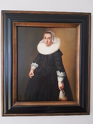 Original Tudor Oil Paintings x 2 (ANTIQUE)