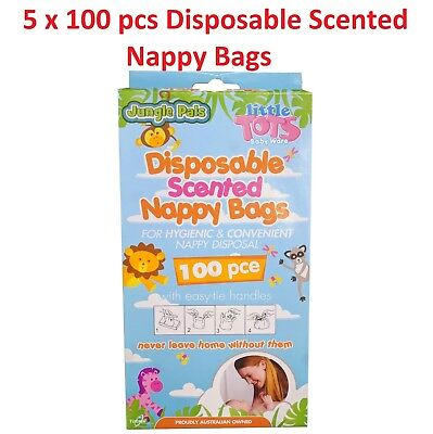 500 Pcs Cheapest BULK BUY BABY Scented sacks bags disposable nappy disposal BOX