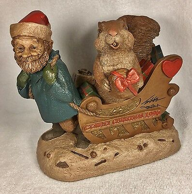 CAIRN CHRISTMAS '96-R 1996~Clark/Wolfe Gnome~Cairn #6326~Ed #29~COA~Signed~Story