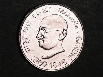 INDIA 1969B(ND) 10 Rupees Ghandi Silver Choice Proof - Mtg=9147