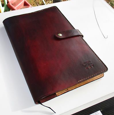 New Personalized Leather Journal , Diary, Book Cover. A4
