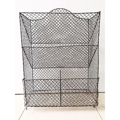 Vintage Antique Wire Shoe Vegetable Storage Rack Unit Kitchen Pigeon Hole