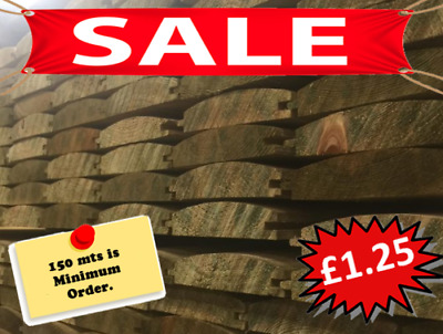 *AMAZING* £1.20  LOGLAP Tongue and Groove A Grade BARREL 100mtrs min ord 4 deliv