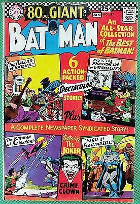BATMAN (1940) #187 FN (6.0) Joker cover and story 80 page giant