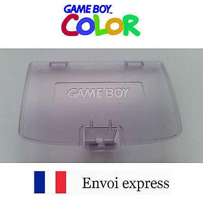 Cache pile Violet transparent Game Boy Color neuf [Battery cover Gameboy GBC]