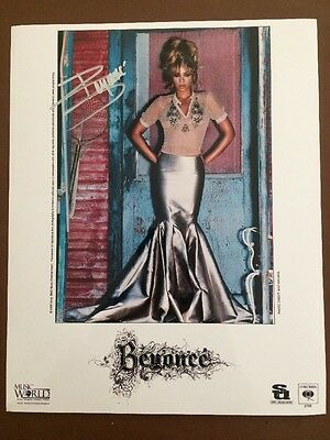 """Beyonce Knowles Hand Signed Autograph 10 X 8 """" Photo 2007 World Tour"""