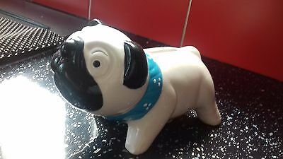 New Black & White Pug Novelty Ceramic Money Box / /Piggy Bank