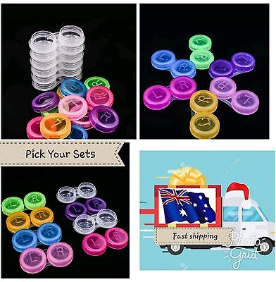 Plastic Contact Lens Cases Outdoor Travel Contact Lens Holder Container
