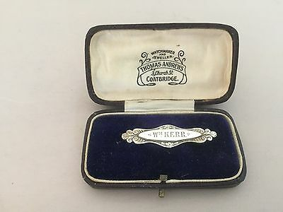 Lovely Little Solid Silver Victorian Brooch/badge (Chester 1899)