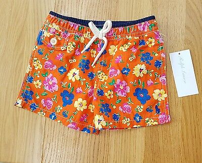 RALPH LAUREN Baby Boy BOARD SHORTS Size 3 6 months NWT Swim Trunks Swimming