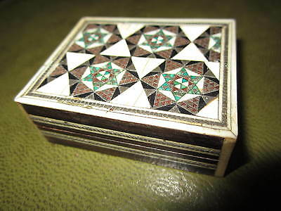 An old micro mosaic box dated 1885