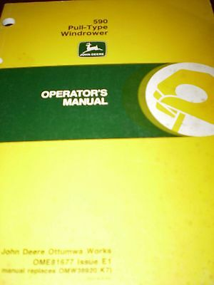 John Deere 590 Pull-Type Windrower Operator's Manual 1991