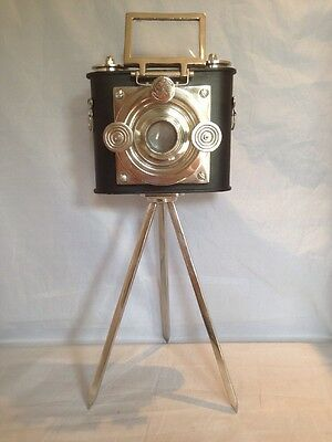 Habitat Retro Camera + Tripod Stand Antique Model Home Decorative Display H19""