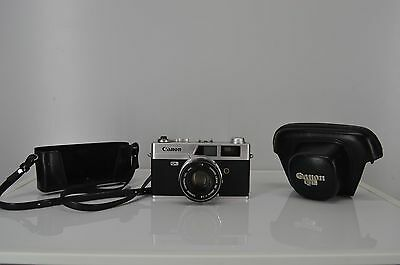 Vintage Canon Canonet QL19 35MM Camera With Canon leather case