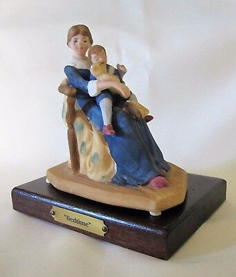 Norman Rockwell BEDTIME Figurine Boy Child Sleeping In Mother's Arms