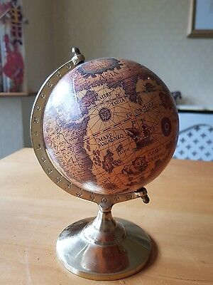 Lovely Latin Inscribed Globe Rotating Swivel Map of Earth Atlas Geography