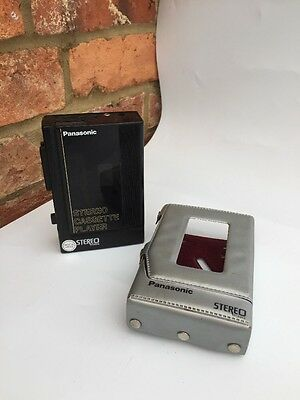 Panasonic personal Walkman cassette player with Case RQ-J75  Retro 80s