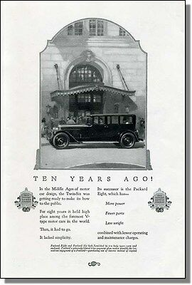 1924 Packard Eight - More Power Fewer Parts Car-Ad