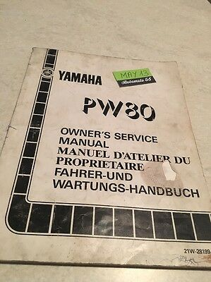 Yamaha PW80  PW 80 Peewee Zinger revue technique moto workshop service Manuel