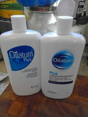 Oilatum Plus Bath Emollient For Dry Skin & Eczema 2 X 500Ml Bottle