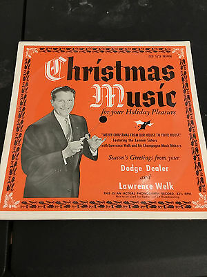 1958 lawrence welk Dodge record paper Christmas music dealership promo piece