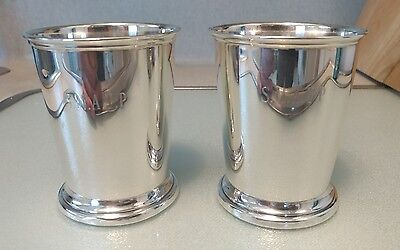Vintage Rare Set Of Two1960s Sterling Silver Monogramed Mint Julep Cups By Poole
