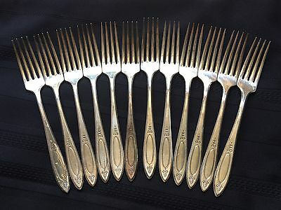 Silver Plate Forks Set Adam 1917 Community Set of 12