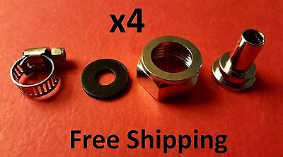 4 Beer Nut Kit Line Connectors Jockey Box Shank Couplers SET OF 4 -  FREE SHIP
