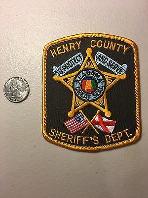 Henry County Alabama Sheriffs Department Police Patch Al