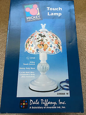 Mickey Unlimited Dale Tiffany Touch Lamp Brand New in Box