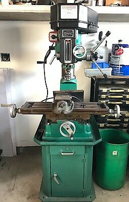 """Central Machinery 2HP Mill / Drill Press Combo w/ Floor Stand and 4"""" Vise"""