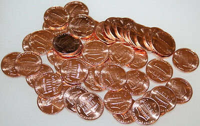 2010-D Roll Lincoln Shield Cents Uncirculated Red 50 coins