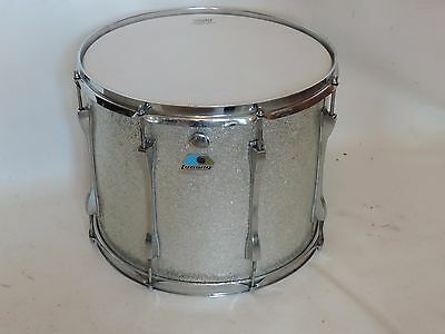 "Ludwig 15"" Silver Sparkle Tom Tom Tenor Drum Blue Olive Badge # 1104023"