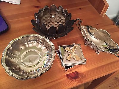 Lot Of 4 Silver Plated Accessories