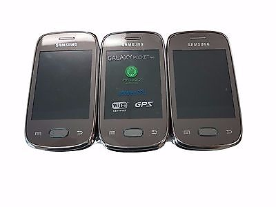 6 Lot Samsung Galaxy Pocket GT-S5310L GSM Android Smartphone Bluetooth Used