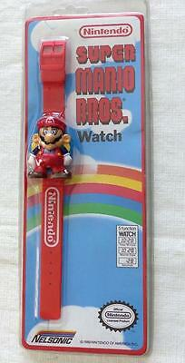 Rare Nintendo 1989 Super  Mario Bros. Watch Red Band Vintage Nelsonic