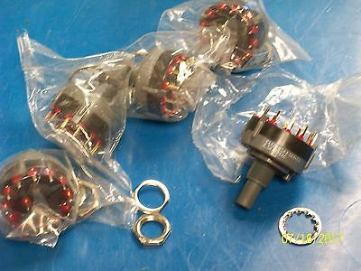 LOT OF 5 C&K Rotary Switch 12 Position